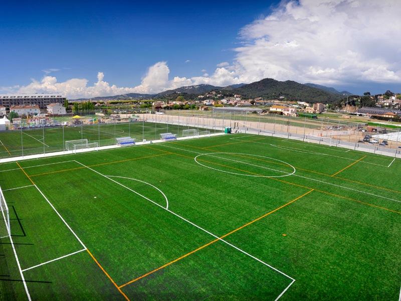 Fußballtrainingslager, Malgrat de Mar in Spanien